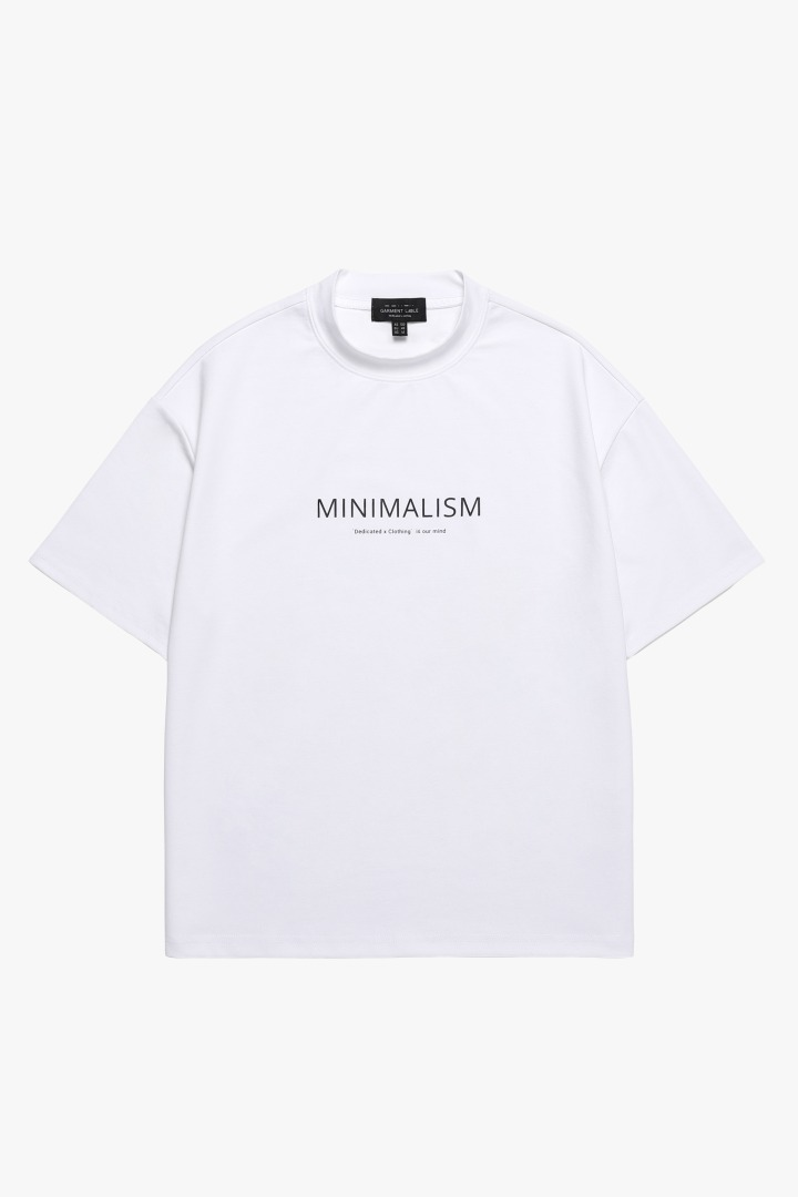 Halfneck Short Sleeve Tee - White