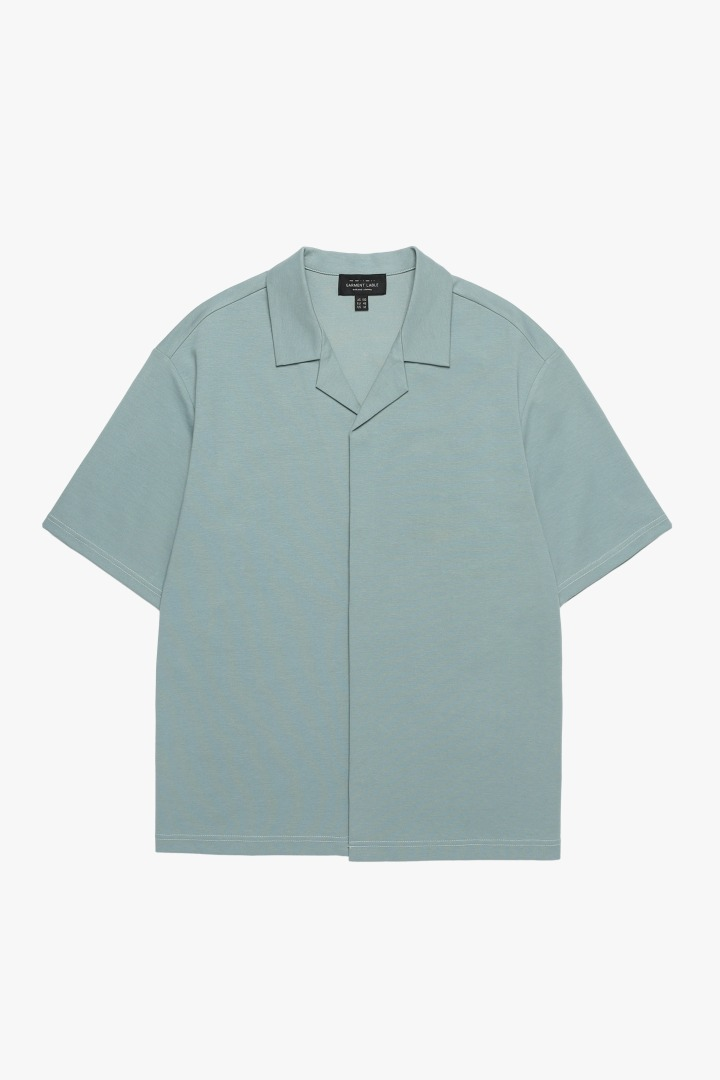 Hidden Button Collar T-shirt - Mint