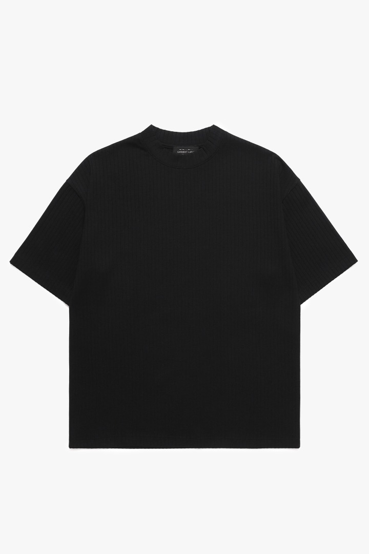 Pleats T-Shirt - Black