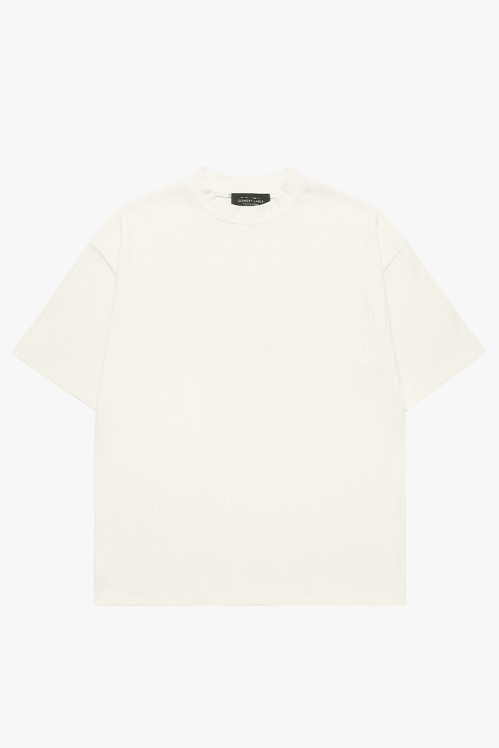 Pleats T-Shirt - Cream