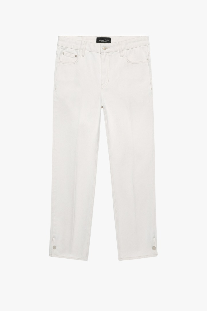 GL Snap Pants-Cream