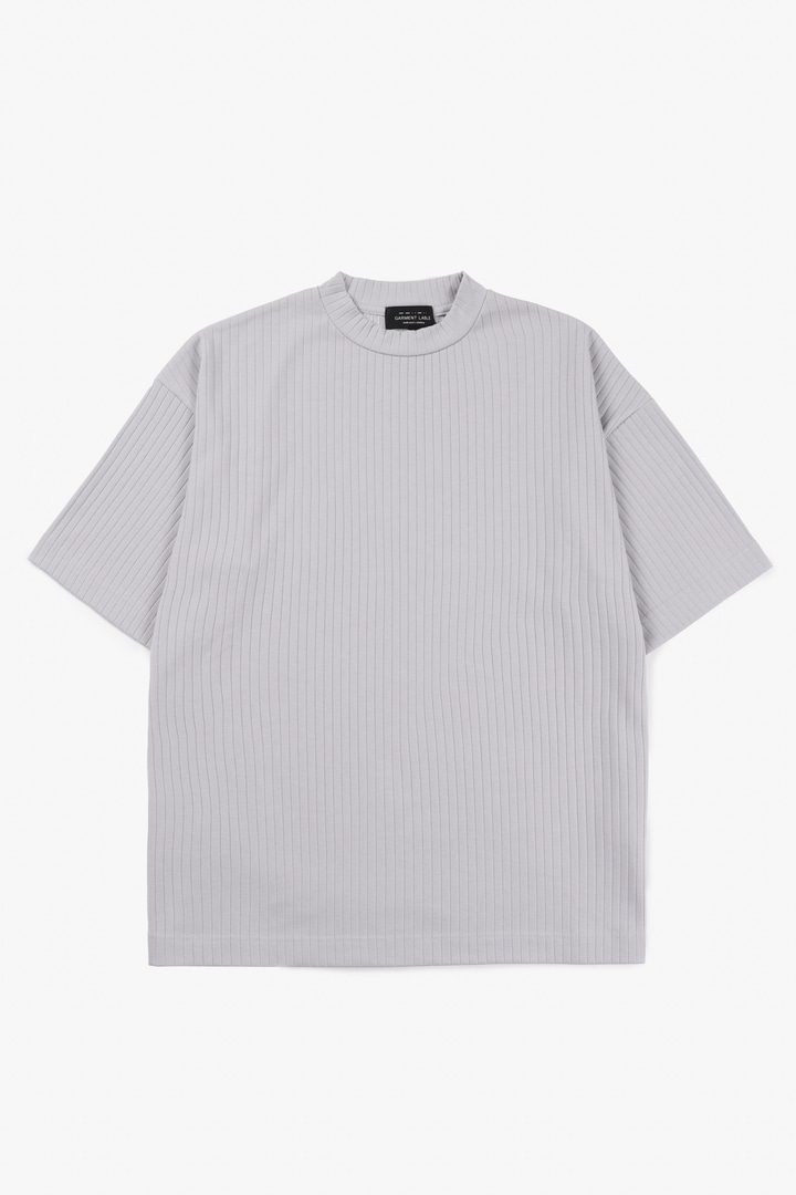 Pleats T-Shirt - Ash Bluegray